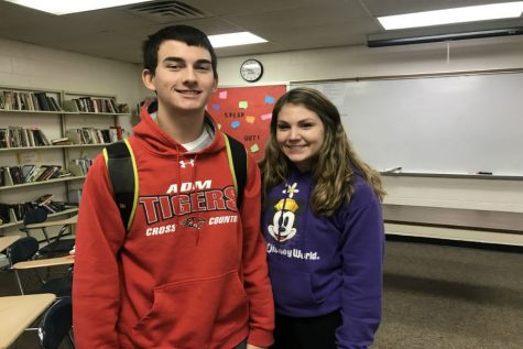 January Fine Arts Students of the Month: Cora Larsen and John DenHerder