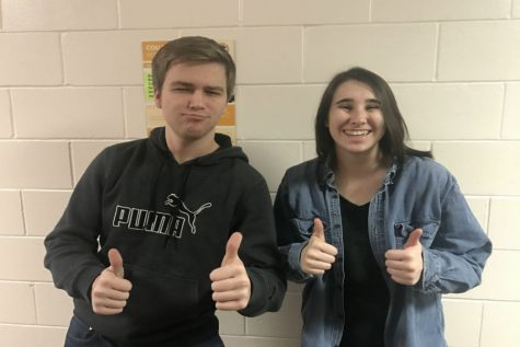 February Fine Arts Students of the Month: Chloe Spoonemore and Ben Koch