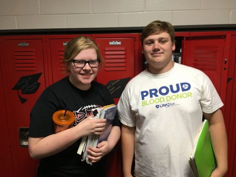 May Kiwanis Students of the Month: Carson Benn and Rebekah Blanchard