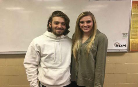 November Kiwanis Students of the Month: Matthew Dobrynski and Sydney Bertman