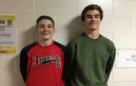 State qualifiers in 2016  and returning sophomores, Andrew Flora and Nolan Harsh.