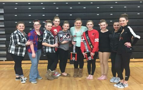 Celebrating all their accomplishments of the multiple solo and team dances, the ADM Dance Team smiled and screamed the day away! They have been working towards major accomplishments to bring a spotlight back their name. The girls were able to take home a total of seven awards on Saturday!