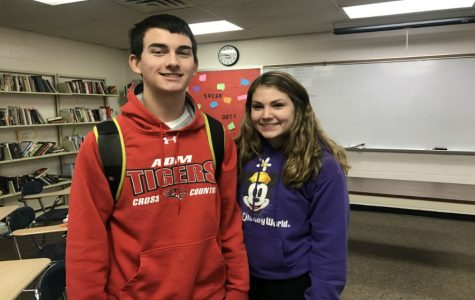 January Fine Arts Students of the Month: Cora Larsen and John DenHerder