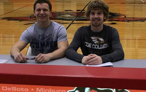 West and McCartney sign to play football at the collegiate level. West will play for South Dakota School of Mines and McCartney for Coe College.
