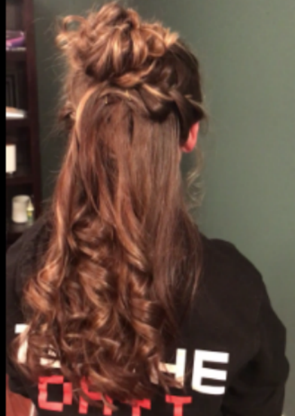 Prom Hair Tutorial Half Up Half Down Black Red Gister