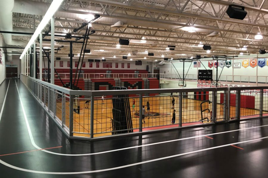 Available indoor track and weight room open to any ADM student