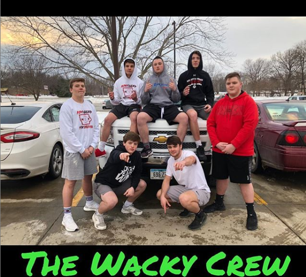 The Wacky Crew, an ADM internet sensation, is known for crazy stunts like bridge jumping and head shaving.