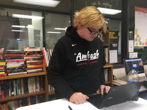 January Fine Arts Student of the Month: Holland Zwank