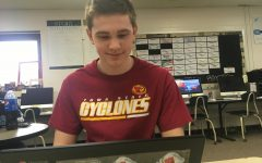 Seth Entriken hard at work to finish his assignment for AP Lang.