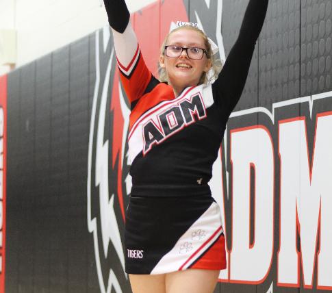 Christina Chapman cheering on the basketball teams to victory.