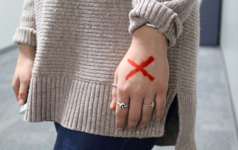 Over 40 million people are currently trapped in slavery. ADM HS recognizes Shine A Light On Slavery Day on February 13th by drawing a red X on their hands.