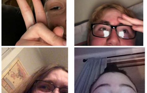 The friend group crying after discovering we are off from school for four weeks. Because of the Covid-19 epidemic.