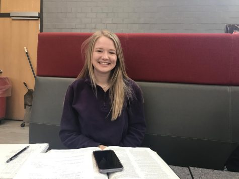 January Kiwanis Student of the Month: Mackenzie Ireland