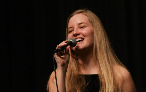 April Kiwanis Student of the Month, Anna Walls, Performing in the