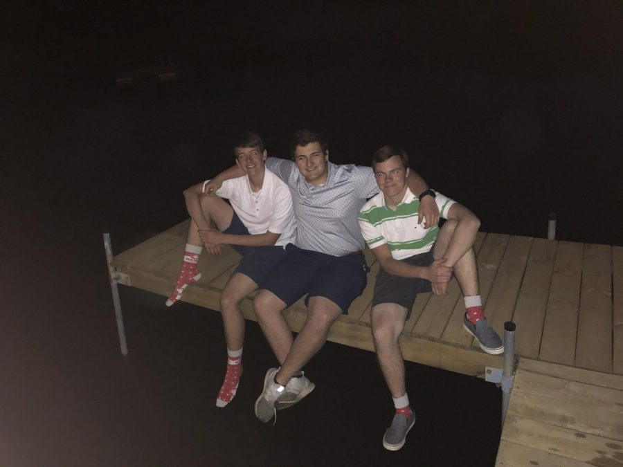 "Hanging out with friends, Jakob Zwank, Nathaniel Aukes, and Zachary Selover spend their ""prom"" night under the stars."