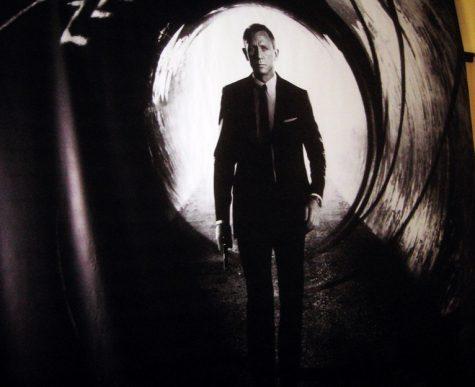 Daniel Craig playing James Bond in the 2012 007 film; Skyfall.