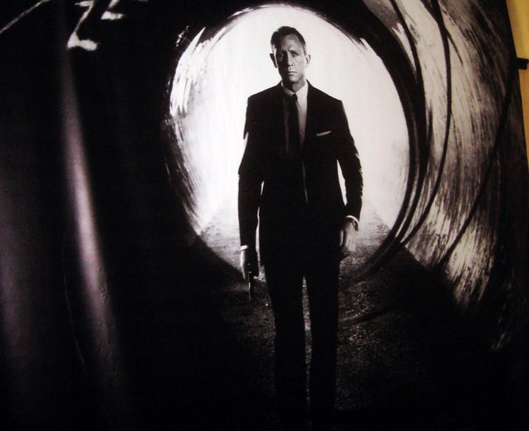 Daniel Craig playing James Bond in 2012 007 film; Skyfall.