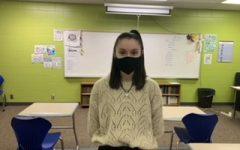 Ms. Allbee , English teacher, pictured by Aaron Teckenburg.