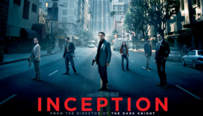 Inception (2010); co-starring Leonardo DiCaprio, Tom Hardy, Joseph Gordon-Levitt, and Ellen Page.