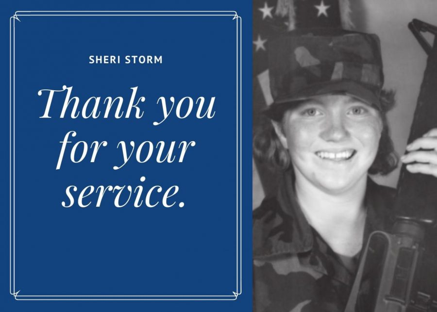 Sheri Storm, who served in the Army Reserve for 8 years, loved the family atmosphere and the connection of the military with her father, with both of them attending veteran celebrations at the State Fair together.