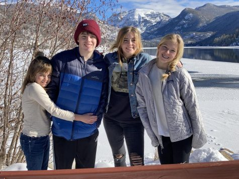 My sisters and I stand in front of the lake in Grand Lake, Colorado, the day before 2021.