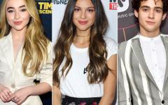 From left: Sabrina Carpenter, Olivia Rodrigo, Joshua Basset