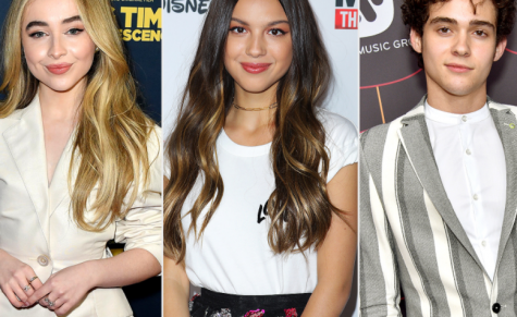 From left: Sabrina Carpenter, Olivia Rodrigo, Joshua Basset