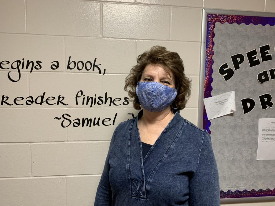 February teacher of the month, Mrs. Whisner.