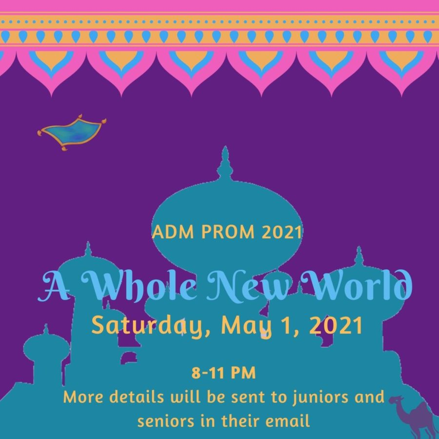 2021+Prom+is+going+to+be+a+new+experience+for+all%2C+though%2C+the+Prom+committee+is+working+hard+to+make+Prom+as+entertaining+as+it+has+been+in+the+past.+The+theme+for+Prom+this+year+is+%22A+Whole+New+World%2C%22+so+plan+your+dresses+accordingly%21