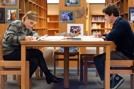 Emma Watson (Sam), the heroine, pictured left, and Logan Lerman (Charlie), the protagonist, pictured right.