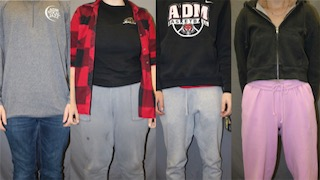 Variety of ADM students, following dress-code regulations at school.