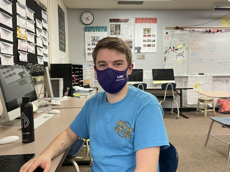 Sean Whitson, May Student of the Month.