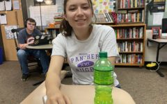 Senior Isabel Ortiz smiles during a power hour while choosing not to wear a mask.