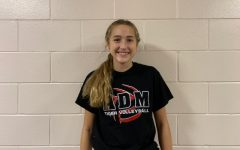 October Volleyball Student of the Month: Marissa Gerleman.